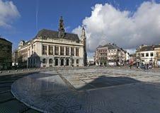 Здание муниципалитет, Шарлеруа, Валлония, Бельгия Стоковые Фотографии RF