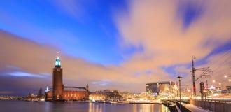Здание муниципалитет Швеция Стокгольма Стоковые Фотографии RF