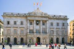здание муниципалитет barcelona Стоковое Изображение RF