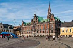Здание муниципалитет Malmo на квадрате Stortorget, Швеции Стоковая Фотография