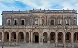 Здание муниципалитет, Noto, Сицилия, Италия Стоковое фото RF