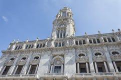 Здание муниципалитет Oporto, Португалия Стоковые Изображения RF