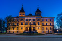 Здание муниципалитет Oulu стоковое изображение