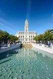 здание муниципалитет porto Португалия Стоковая Фотография