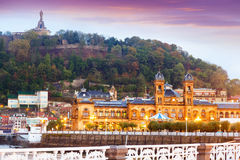 Здание муниципалитет San Sebastian Испания Стоковая Фотография