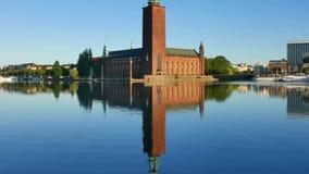здание муниципалитет stockholm видеоматериал
