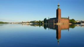 здание муниципалитет stockholm акции видеоматериалы