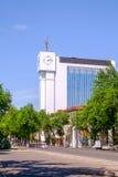 Здание национального агенства информации в центре Ташкента стоковая фотография rf