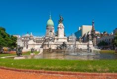 Здание национального конгресса, Буэнос-Айрес, Аргентина Стоковая Фотография