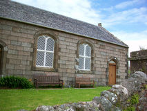 Здание на острове Iona, Шотландии стоковое изображение