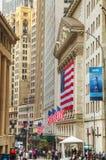 Здание нью-йоркская биржа в Нью-Йорке Стоковые Фото