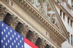 Здание нью-йоркская биржа в Нью-Йорке Стоковая Фотография RF