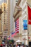 Здание нью-йоркская биржа в Нью-Йорке Стоковое Фото