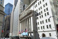Здание нью-йоркская биржа Стоковая Фотография RF