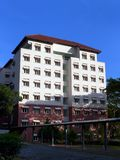 Здание общежития университетского кампуса Стоковая Фотография
