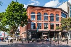 Здание ОДОБРЕННОГО магазина коралла ботинка, Ванкувера Стоковое Фото