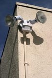здание освещает сторону датчика движения Стоковая Фотография RF
