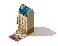 Здание Парижа вектора равновеликое Стоковые Изображения
