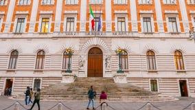Здание парламента в Риме стоковое изображение rf