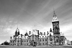 Здание парламента Оттавы Стоковые Изображения