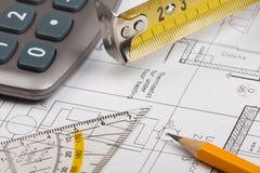 Здание планирует принципиальную схему Стоковое Изображение RF
