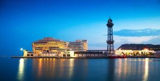 Здание порта Vell в вечере Стоковые Фотографии RF