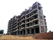 Здание под конструкцией - взглядом со стороны Стоковое Изображение RF