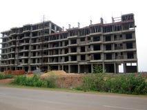 Здание под конструкцией - вид спереди Стоковые Фотографии RF