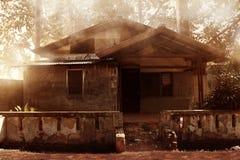 Здание предпосылки ужаса старое Стоковое Изображение