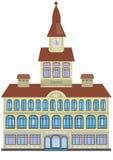 Здание ратуши изолированное на белизне Стоковые Фото