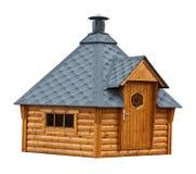Здание сауны сада тимберса Стоковое Изображение RF