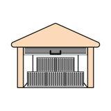 Здание склада поставки Стоковая Фотография RF