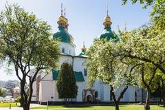 Здание собора Sophia Святого в городе Киева Стоковое Изображение
