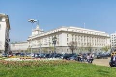 Здание Совета Министров в центральной Софии Стоковая Фотография