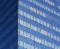 Здание современных голубых окон офиса коммерчески, небоскреб Стоковое Изображение RF