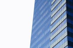 Здание современных голубых окон офиса коммерчески, небоскреб Стоковая Фотография RF