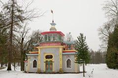 Здание старое каменное газебо Стоковые Фотографии RF