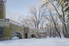 Здание старой зимы античное Стоковая Фотография