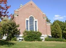 Здание стиля красного кирпича колониальное Стоковое Фото