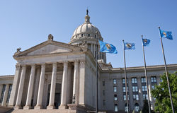 Здание столицы государства Оклахомы Стоковое фото RF