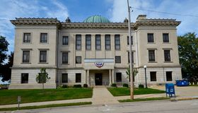 здание суда старое стоковое фото