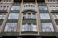 Здание с еврейской деталью в Праге Стоковое фото RF