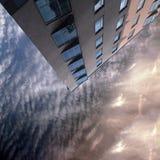 Здание с окнами Стоковые Изображения