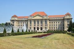 Здание университета, Дебрецен стоковые изображения rf