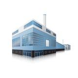 Здание фабрики с офисами и производственными объектами Стоковое Изображение RF
