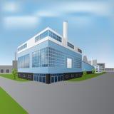 Здание фабрики с офисами и производственными объектами бесплатная иллюстрация