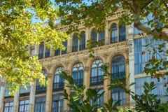Здание фасада стиля Nouveau искусства Стоковая Фотография