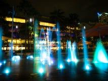 Здание фонтана внешнее в городе Стоковые Изображения RF