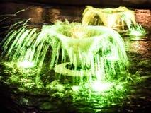 Здание фонтана внешнее в городе Стоковое Изображение