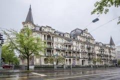 Здание Цюриха Швейцарии историческое Стоковые Изображения RF